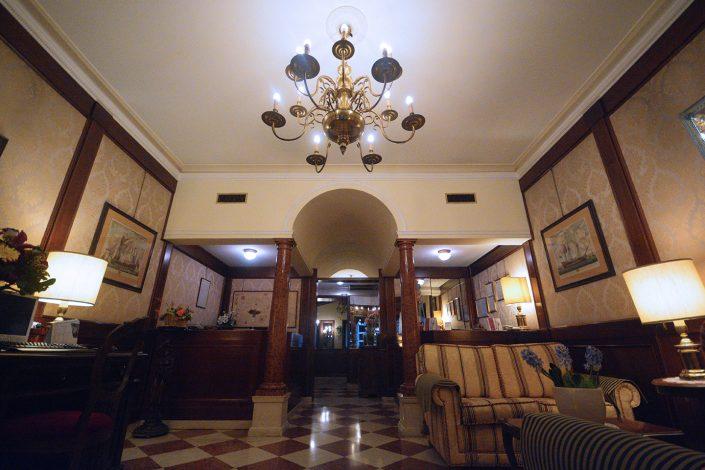 panoramica ingresso atrio hotel falier